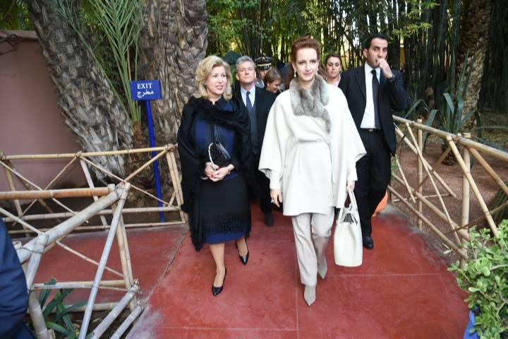 Marrakech lalla salma et dominique ouattara visitent le for Jardin majorelle 2015